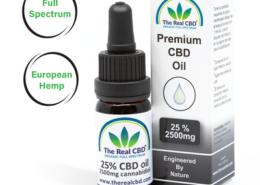 25% CBD Olie- The Real CBD - Danmark - Spanien - UK - Tyskland
