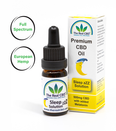 5% CBD olie -SleepSolution-The Real CBD-Danmark-UK-Spanien-Tyskland