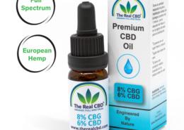 8% CBG Olie-The Real CBD-Danmark-Spanien-UK-Tyskland