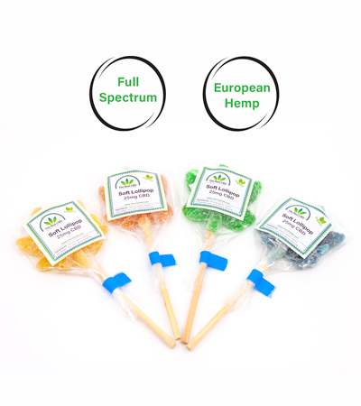 Soft lollipop 25 mg cbd by The Real CBD