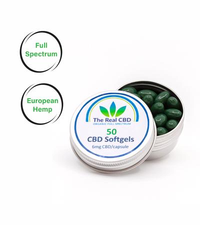 CBD soft gels capsules