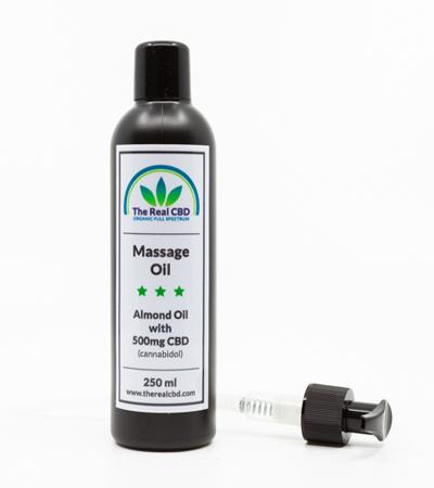 Aceite con CBD para masaje
