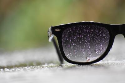 gafas mojadas